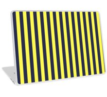 Stripes Navy Yellow Laptop Skin