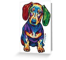 Dachshund - LOVE :) Greeting Card