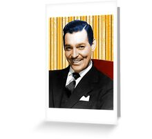 Handsome Clark Gable Portrait Greeting Card