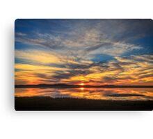 Sunset Spreads over Plum Island Canvas Print
