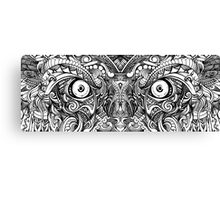 Raw Rough Mean Angry Evil Eyes Sharp Detailed Hand Drawn Canvas Print
