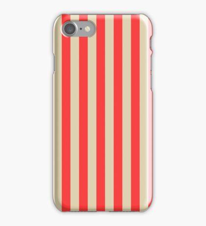 Stripes Red Beige iPhone Case/Skin