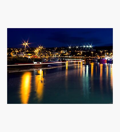 Lifeboat Lighttrails Photographic Print