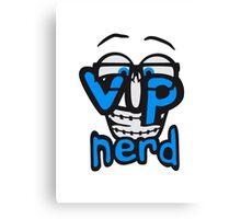 text nerd geek hornbrille schlau intelligent lustig freunde team crew party feiern comic cartoon cool vip wichtig very importent person design  Canvas Print