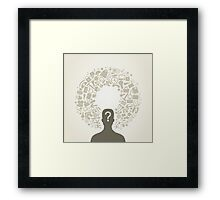 Office person Framed Print