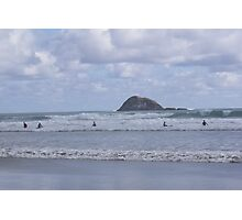 Muriwai surfers Photographic Print
