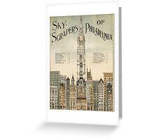 Vintage poster - Philadelphia Greeting Card
