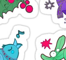 Berry, birds and mistletoe Sticker