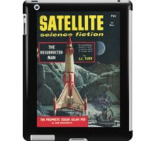 Retro Pulp Science Fiction comic cover  - Satellite Sci-fi iPad Case/Skin