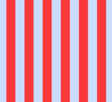 Stripes Red Light Blue Sticker