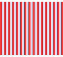 Stripes Red Light Blue Photographic Print