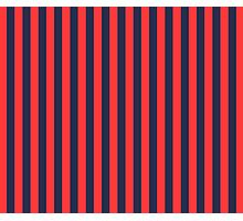 Stripes Red Navy Photographic Print