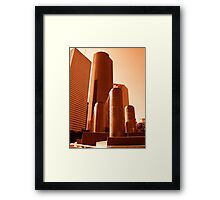 Tranquility Park, Houston Texas Framed Print