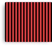 Stripes Red Black Canvas Print