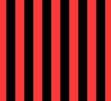 Stripes Red Black Sticker