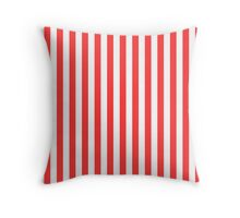 Stripes Red White Throw Pillow