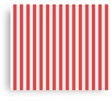 Stripes Red White Canvas Print