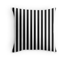 Stripes Black White Throw Pillow