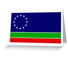 eurasia flag Greeting Card