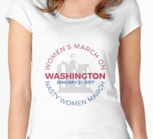 Nasty Women March Women's Fitted Scoop T-Shirt