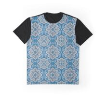 Snow flower, floral print, winter colours - blue, gray and white Graphic T-Shirt