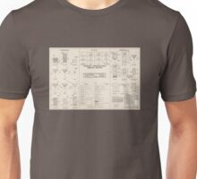 Cocktail Construction Chart by United States Forest Service Unisex T-Shirt