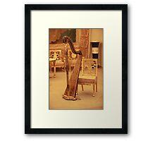 Harp in luxury interior Framed Print
