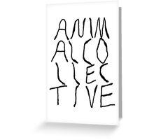 Animal Collective Logo Greeting Card