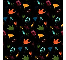 Floral pattern in bright colors Photographic Print