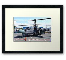 Attack helicopter Ka-52 Alligator Framed Print
