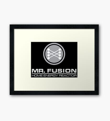 Back to the Future Mr. Fusion logo Framed Print