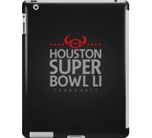 Super Bowl LI 2017 horns blk iPad Case/Skin