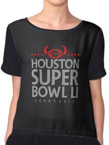 Super Bowl LI 2017 horns blk Chiffon Top