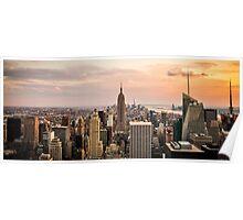 Big Apple Sunset Poster