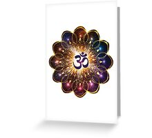 """The higher power of Om"" - sacred geometry Greeting Card"