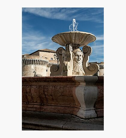 The ancient fountain in Senigallia Photographic Print