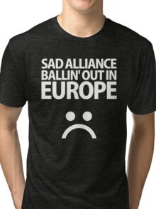 SAD▲ALLIANCE White Tri-blend T-Shirt
