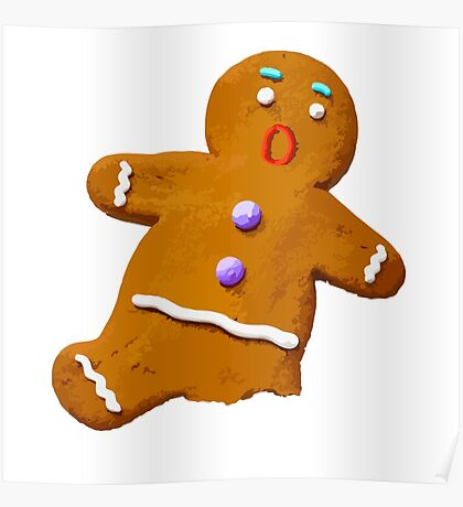 Gingerbread Man Poster