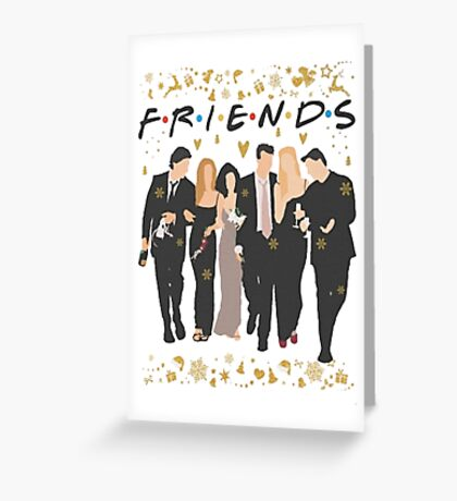 FRIENDS tv show cast  Greeting Card