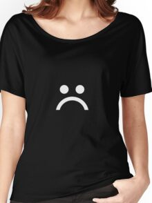 ☹ White Women's Relaxed Fit T-Shirt