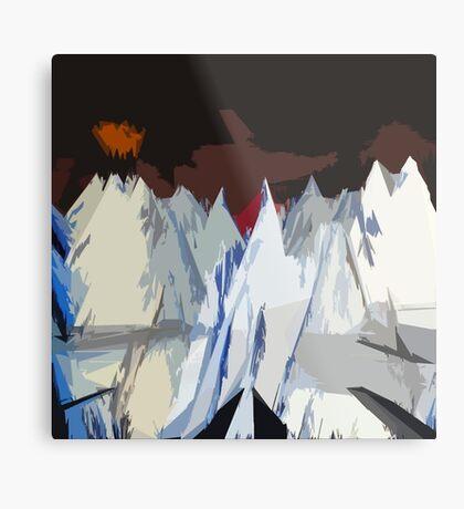 Radiohead Kid A Mountains Stylized Metal Print