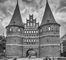 Holstentor, Lübeck b/w by Mark Bangert