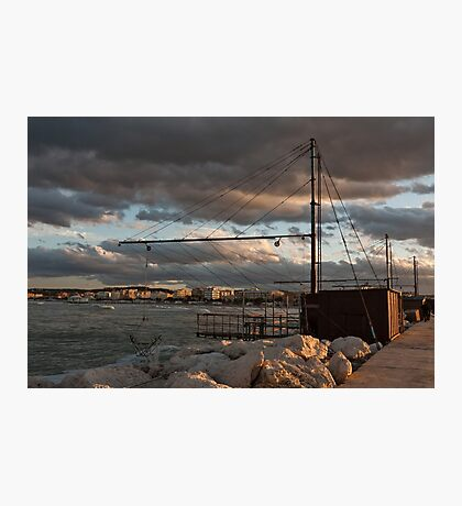The fishnets in the port Photographic Print