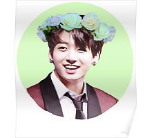 Jungkook Flower Crown Poster