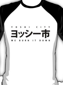 YOSHI市 Black T-Shirt