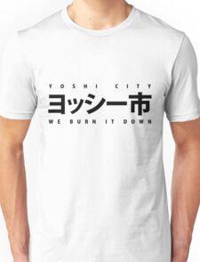 YOSHI市 Black Unisex T-Shirt
