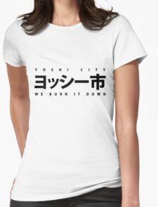 YOSHI市 Black Womens Fitted T-Shirt