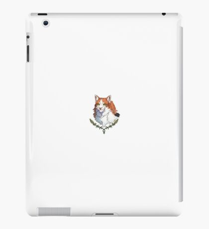 Wild red-headed cat drawing iPad Case/Skin