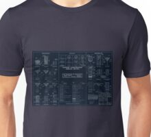 Cocktail Construction Chart - Blueprint Version by United States Forest Service Unisex T-Shirt