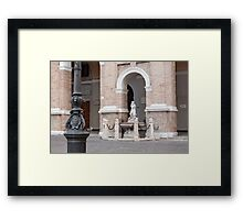 The ancient coat of arms Framed Print